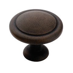 Reflections 1-1/4 Inch Diameter Antique Rust Cabinet Knob
