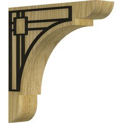 "Olympic 1.75""W x 8""D x 8""H Countertop Bracket - Red Oak"