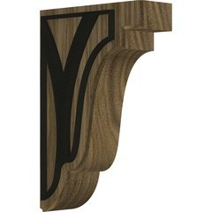 "Bedford 1.75""W x 5""D x 7.5""H Countertop Bracket - Walnut"