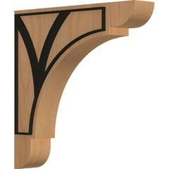 "Olympic 1.75""W x 10""D x 10""H Countertop Bracket - Cherry"