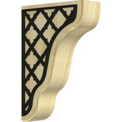 "Plymouth 1.75""W x 5.25""D x 7.5""H Countertop Bracket - Rubberwood"