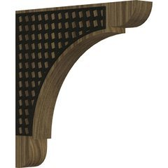 "Olympic 1.75""W x 12""D x 12""H Countertop Bracket - Walnut"