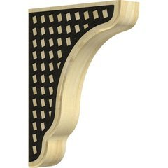 "Plymouth 1.75""W x 7.25""D x 9.5""H Countertop Bracket - Rubberwood"