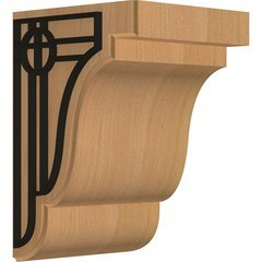 "Bedford 5.25""W x 5""D x 7.5""H Countertop Bracket - Cherry"
