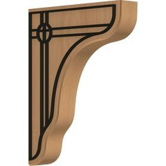 "Plymouth 1.75""W x 8.5""D x 11""H Countertop Bracket - Cherry"