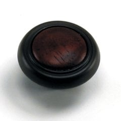 First Family 1-1/4 Inch Diameter Cherry/Oil Rubbed Bronze Cabinet Knob