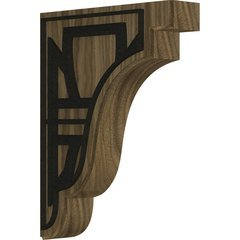 "Bedford 1.75""W x 7.25""D x 9.5""H Countertop Bracket - Walnut"