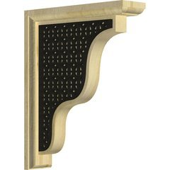 "Hamilton 2.25""W x 9""D x 11""H Countertop Bracket - Rubberwood"