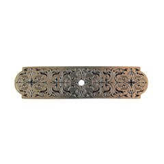 Olde World 3-7/8 Inch Length Brite Brass Back-plate <small>(#NHE-573-BB)</small>