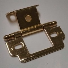 Full Inset Ball Tip Hinge-Polished Brass Sold Each <small>(#PK3180TBPB)</small>
