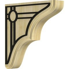 "Stratford 1.75""W x 7.5""D x 7.5""H Countertop Bracket - Rubberwood"