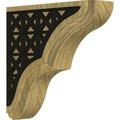 "Stratford 1.75""W x 5.5""D x 5.5""H Countertop Bracket - Red Oak"