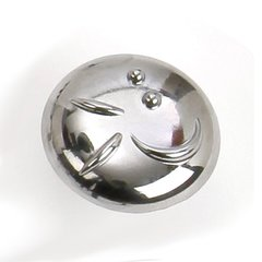 Graffiti 1-3/8 Inch Diameter Polished Chrome Cabinet Knob