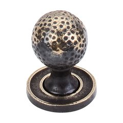 Britannia 1-1/4 Inch Diameter Dark Antique Brass Cabinet Knob <small>(#M44)</small>