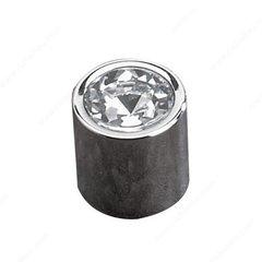 Swarovski Crystal 11/16 Inch Diameter Chrome Cabinet Knob