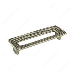 Striated 5-1/16 Inch Center to Center Faux Iron Cabinet Pull <small>(#160128904)</small>