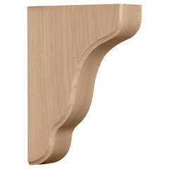 "Plymouth 1.75""W x 5.25""D x 7.5""H Countertop Bracket - Red Oak"