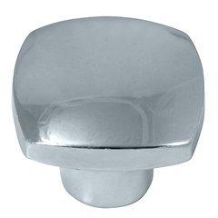 Aventura Square Knob 1-1/2 inch Diameter Polished Chrome