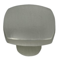 Aventura Square Knob 1-1/2 inch Diameter Satin Nickel