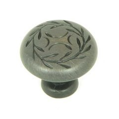 Meadow Brook 1-1/4 Inch Diameter Oil Rubbed Bronze Cabinet Knob <small>(#CP3041-OB)</small>