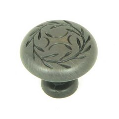 Meadow Brook 1-1/4 Inch Diameter Oil Rubbed Bronze Cabinet Knob