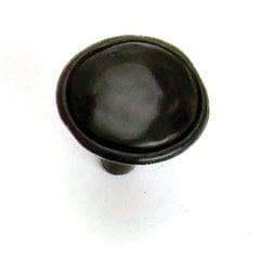 Merlot 1-3/8 Inch Diameter Matte Black Cabinet Knob
