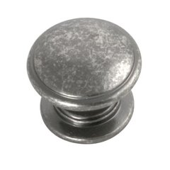 Williamsburg 1-1/4 Inch Diameter Black Nickel Vibed Cabinet Knob