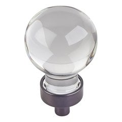 Harlow Cabinet Knob 1-1/16 inch Diameter - Brushed Oil Rubbed Bronze
