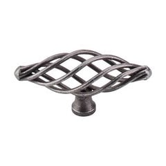 Normandy 3 Inch Length Pewter Cabinet Knob