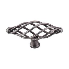 Normandy 3 Inch Length Pewter Cabinet Knob <small>(#M622)</small>