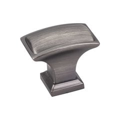 Annadale 1-1/2 Inch Diameter Brushed Pewter Cabinet Knob <small>(#435L-BNBDL)</small>