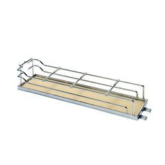 """Tray Set For Base Pullout 7"""" Wide Chrome & Maple <small>(#546.63.159)</small>"""