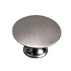 Povera 1-3/8 Inch Diameter Faux Iron Cabinet Knob <small>(#2445935904)</small>