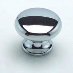 Euro Retro 1-3/16 Inch Diameter Chrome Cabinet Knob