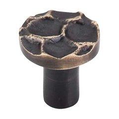 Cobblestone 1-1/8 Inch Diameter Brass Antique Cabinet Knob <small>(#TK295BA)</small>