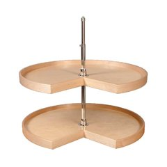 "28"" Pie Cut Lazy Susan - 2 Shelf"