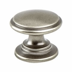 Andante 1-3/16 Inch Diameter Antique Pewter Cabinet Knob