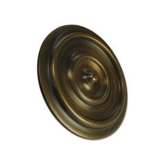 "Double-Ring Clavo 2-3/16"" Dia - Antique Brass"