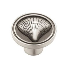 Seaside Cottage 1-3/8 Inch Diameter Brushed Satin Pewter Cabinet Knob