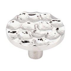Cobblestone 1-15/16 Inch Diameter Polished Nickel Cabinet Knob <small>(#TK297PN)</small>
