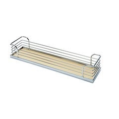 "Storage Tray For Base Pullout Frame 6-1/4"" W Chrome & Maple"