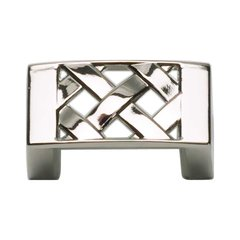 Lattice 1-1/4 Inch Center to Center Polished Nickel Cabinet Pull