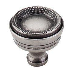 Edwardian 1-5/16 Inch Diameter Pewter Antique Cabinet Knob <small>(#M947)</small>