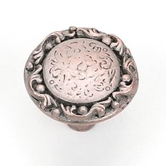 Santa Fe Trail 1-1/4 Inch Diameter Weathered Copper Nickel Cabinet Knob <small>(#13679)</small>