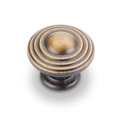 Bremen 2 1-1/4 Inch Diameter Antique Brushed Satin Brass Cabinet Knob