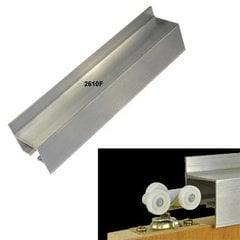 "72"" Wall Mount Fascia Single Door Track-Aluminum <small>(#2610F072)</small>"