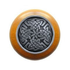Jewel 1-1/2 Inch Diameter Antique Pewter Cabinet Knob <small>(#NHW-757M-AP)</small>