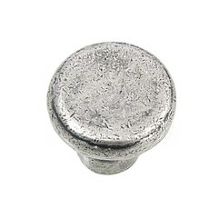 Riverstone 1-1/4 Inch Diameter Antique Pewter Cabinet Knob <small>(#84364)</small>