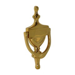 "Door Knocker 6-7/8"" X 3-1/2"" Bright Brass"