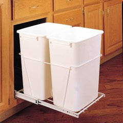 Double Trash Pullout 35 Quart -White